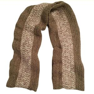 Long, Gold, Cream & Brown Infinity Scarf Wrap NWT